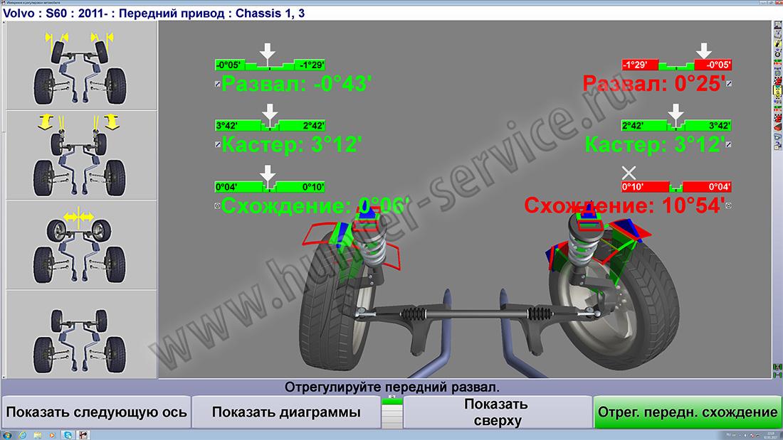 Как сделать развал схождение передних колес 968